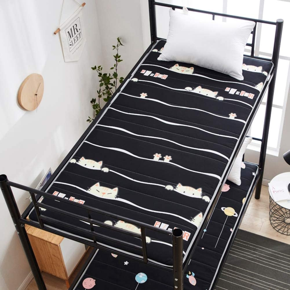 MM-CDZ Not-Slip Soft Sleeping Tatami Floor Mat,Student Dormitory Foldable Bed Mattress Topper Padded,Quilted Bed Topper Traditional Japanese Futon for Home-c Twin