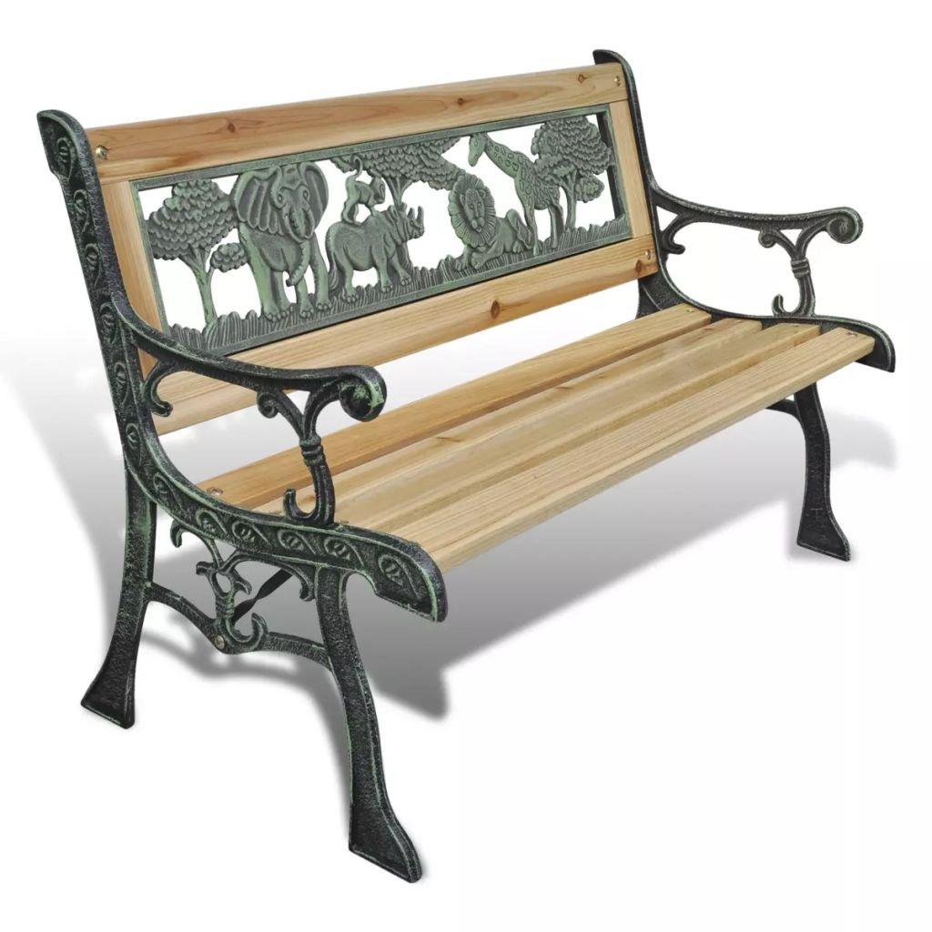 WEILANDEAL Panca da giardino per bambini design Animali 80x 24cmlargeur: 37cm Panca da giardino plastica