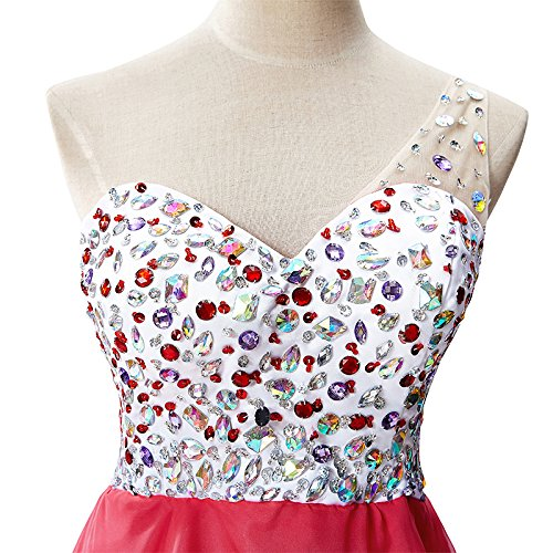 Cocktail Kurz Kleid Rot Rockabilly Ärmellos Spitze Swing Partykleid Misshow Mini Blumenspitze g1TYYwq5