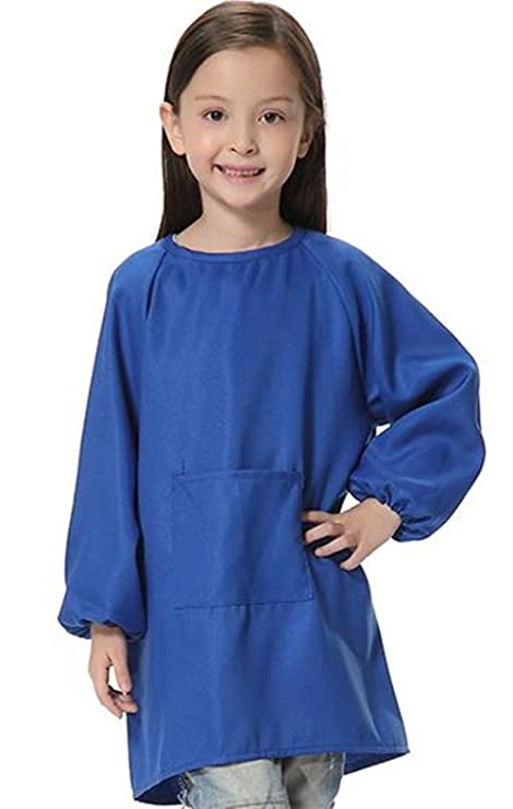 Bata larga para niños de diseño coreano (poliéster impermeable estilo delantal para pintar), de ER Shop, poliéster, Style-1, Height(1.2M-1.4M): Amazon.es: ...