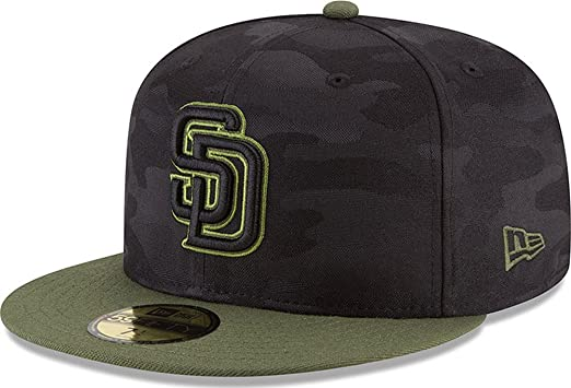 New Era San Diego Padres Memorial Day Fitted Cap 59fifty Basecap Limited  Special Edition e383416665f