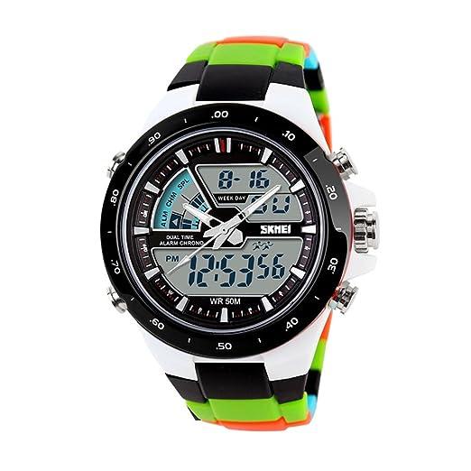 TONSHEN Multifuncional Digitales Relojes de Hombre Mujer Chico Deportivos Outdoor Militares Táctica Acero Inoxidable e Plástico Relojes de Pulsera Outdoor ...