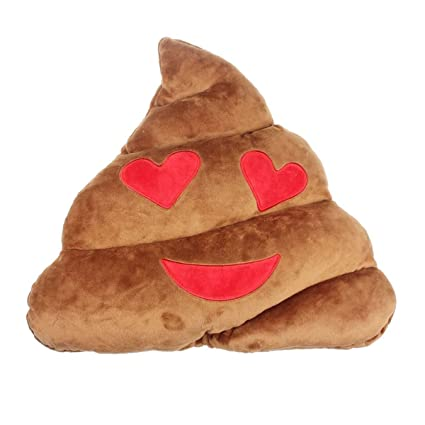 Amazon.com: Soft Emoji Emoticon Cojín café caca almohada ...