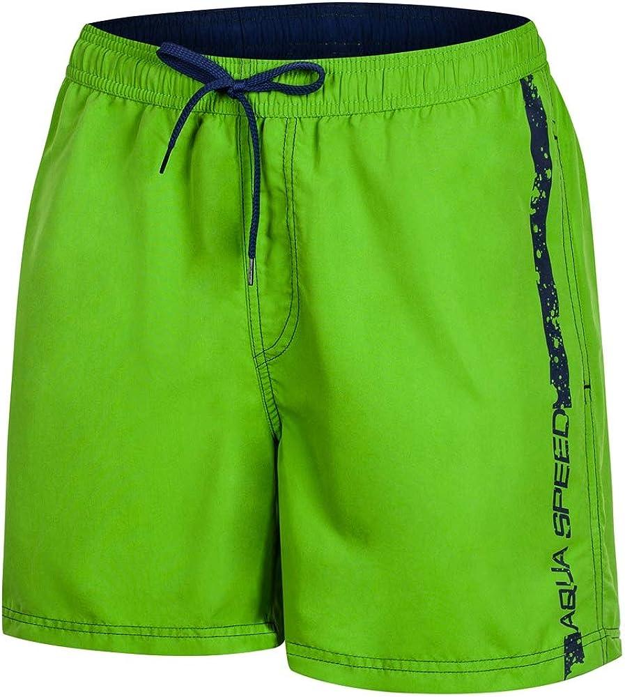 Aqua Speed 5908217666963 Ace Swim - Bañador para Hombre, Talla M, Color Verde y Azul Marino