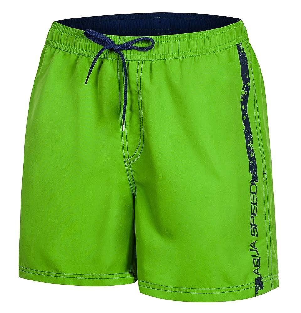 Aqua Speed 5908217666970 Ace Swim - Bañador para Hombre, Talla L, Color Verde y Azul Marino