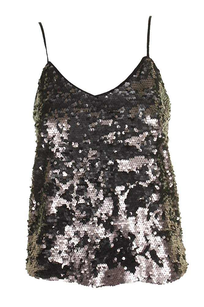 1.STATE Womens Sequined Spaghetti Straps Camisole Top 8167036
