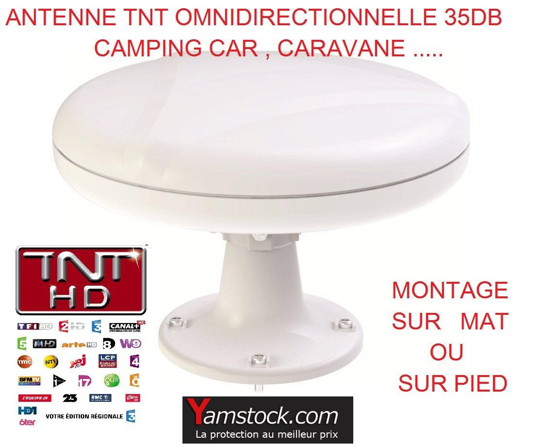 Antena TDT para caravana y autocaravana o barco, 35 decibelios, omnidireccional antares diffusion OMNI360