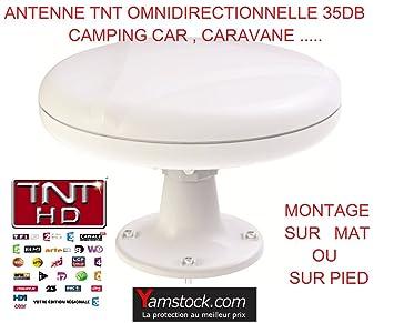 Antena TDT para caravana y autocaravana o barco, 35 decibelios, omnidireccional