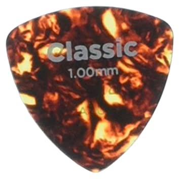 Planet Waves Shell-Color Celluloid Guitar Picks, 25 pack, Heavy, Wide Shape