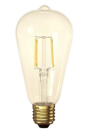 Bombilla decorativa vintage LED 4W dorada Calex Edison ST64