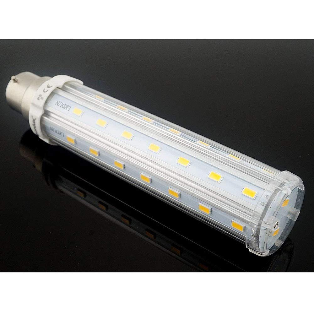 Bonlux 2-Pack 15W Bayonet LED Corn Bulb Cool White 6000K 120 Watt Equivalent 360