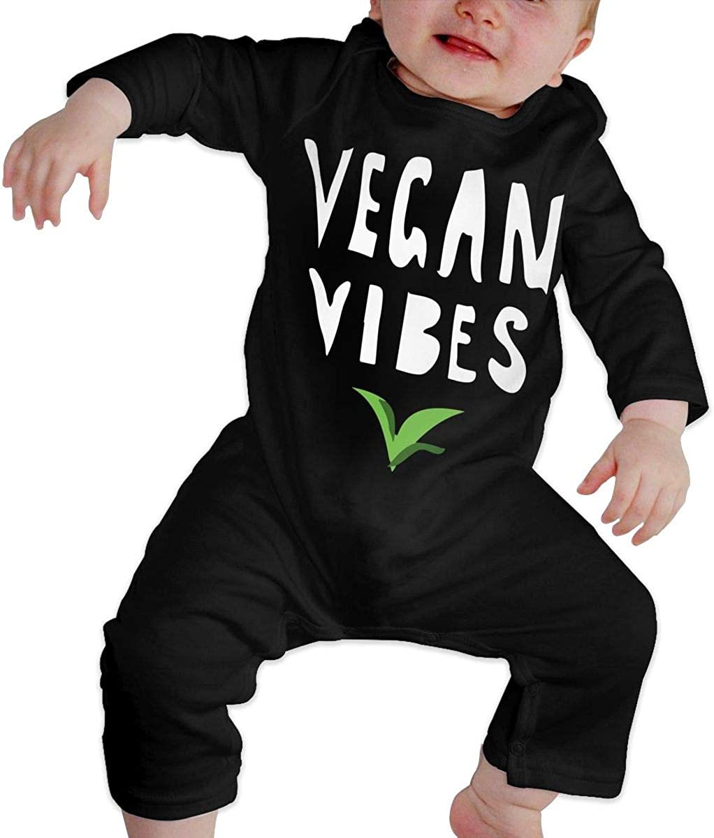 Baby Girls Romper Jumpsuit Vegan Vibes Organic One-Piece Bodysuits Coverall Outfits