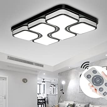 MYHOO 78W LED Deckenleuchte Dimmbar Deckenlampe Modern Design Schlafzimmer  Küche Flur Wohnzimmer Lampe Wandleuchte Energie Sparen Licht[Energieklasse  ...
