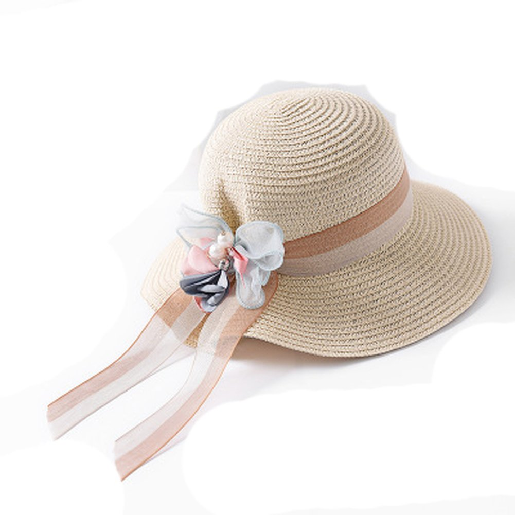 Fashion Summer Beach Hat Large Brimmed Straw Sun Hat for Swimming Travel Seaside