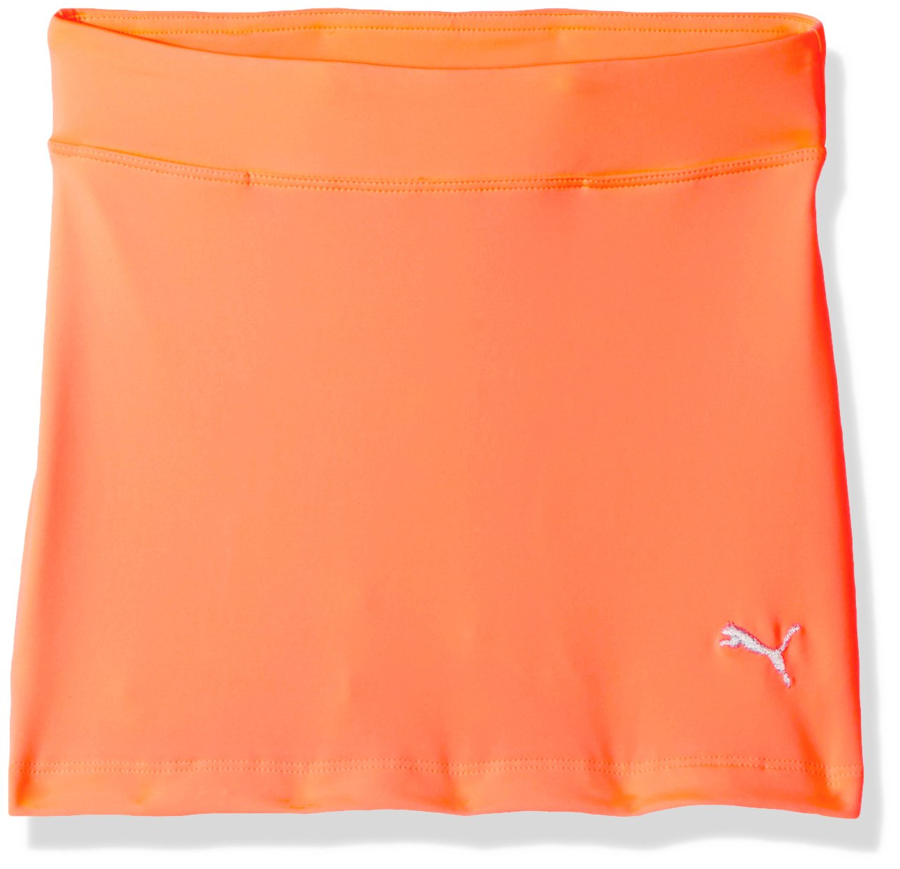 PUMA Golf 2017 Girls Solid Knit Skirt, Angry Peach, Small