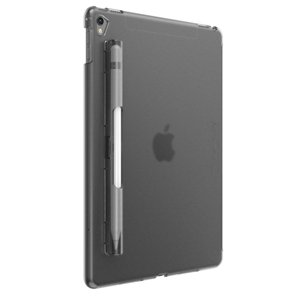 SwitchEasy CoverBuddy Pencil Holder back cover for iPad Pro 9.7-inch (Translucent Black) (compatible with Smart Keyboard, Smart Cover and Apple Pencil) by SwitchEasy
