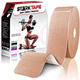 Bulk Kinesiology Tape Precut For Knee, Wrist, Shoulder, Elbow | Designed to Boost Athletic Performance, Prevent Joint, Muscle Pain, Ease Inflammation | 97% Cotton/3% spandex, 2'' W x 10'' L, Skin