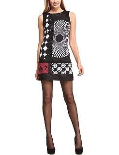 73152e74c75603 Desigual Kurzes Kleid Damen Vest Stella 18WWVK81 m Schwarz: Amazon ...