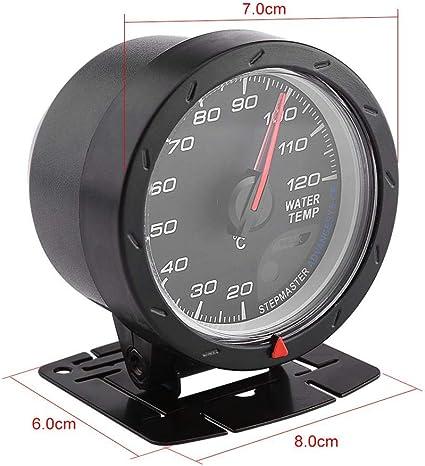 Qiilu Universal Digital Medidor de temperatura del agua con LED azul Medidor de rango 20-120 ℃ para coche carreras