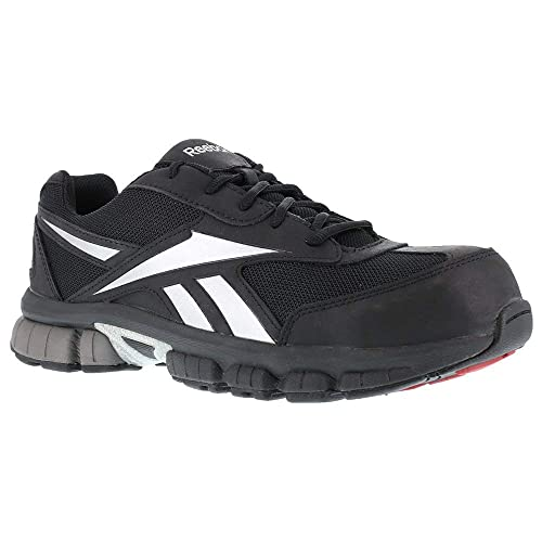 7d27c763fd0 Reebok Work Men's Ketia RB4895 EH Athletic Safety Shoe Black/Silver