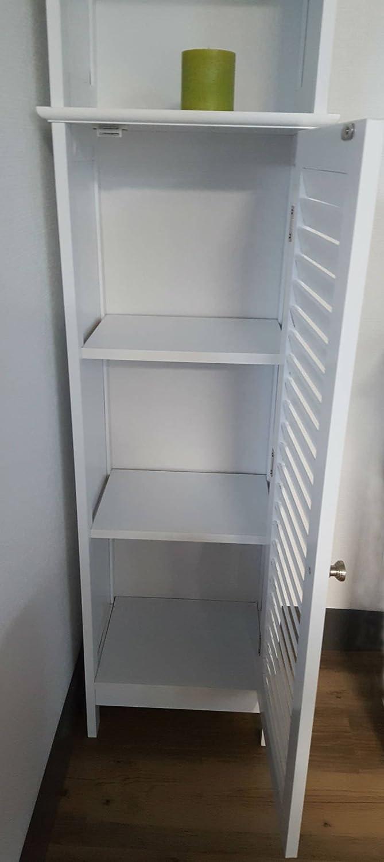 Amazon.com: evideco Miami Free Standing Torre Madera de baño ...