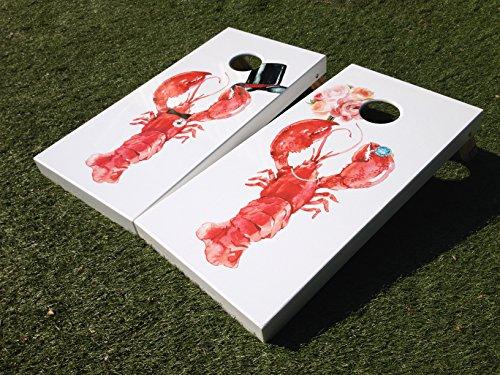 Wedding Lobsters Cornhole Board Set by West Georgia Cornhole
