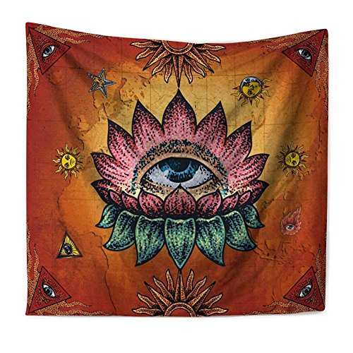 QEES Zen Tapestry Wall Hanging Small Chakra Tapestry Mandala Design Meditation Yoga Decor Psychedelic Wall Hanging Hippie Style for Bedroom Living Room Dorm GT02-Mystic -