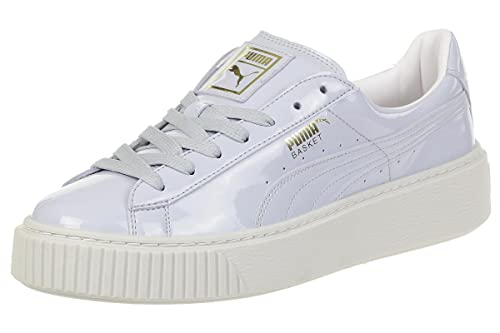 197ab537febe Puma Women s Basket Platform Patent WN s Trainers Blue  Amazon.co.uk ...