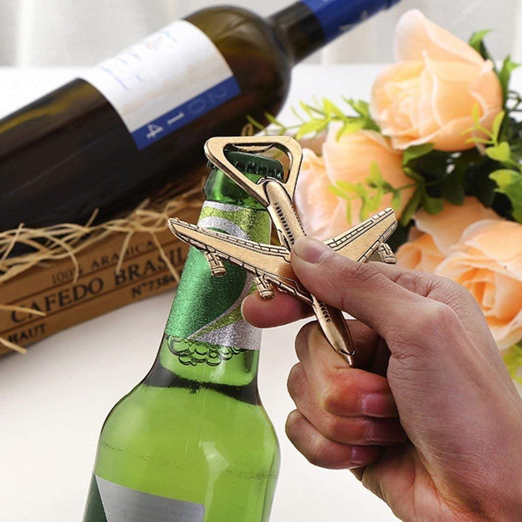 WOVELOT Paquete De 12 Abrebotellas Avi/ón Caja De Regalo Abrelatas De Botella De Cerveza De Viaje De Avi/ón De Aire Favor De Fiesta Decoraciones De Cumplea?os Boda