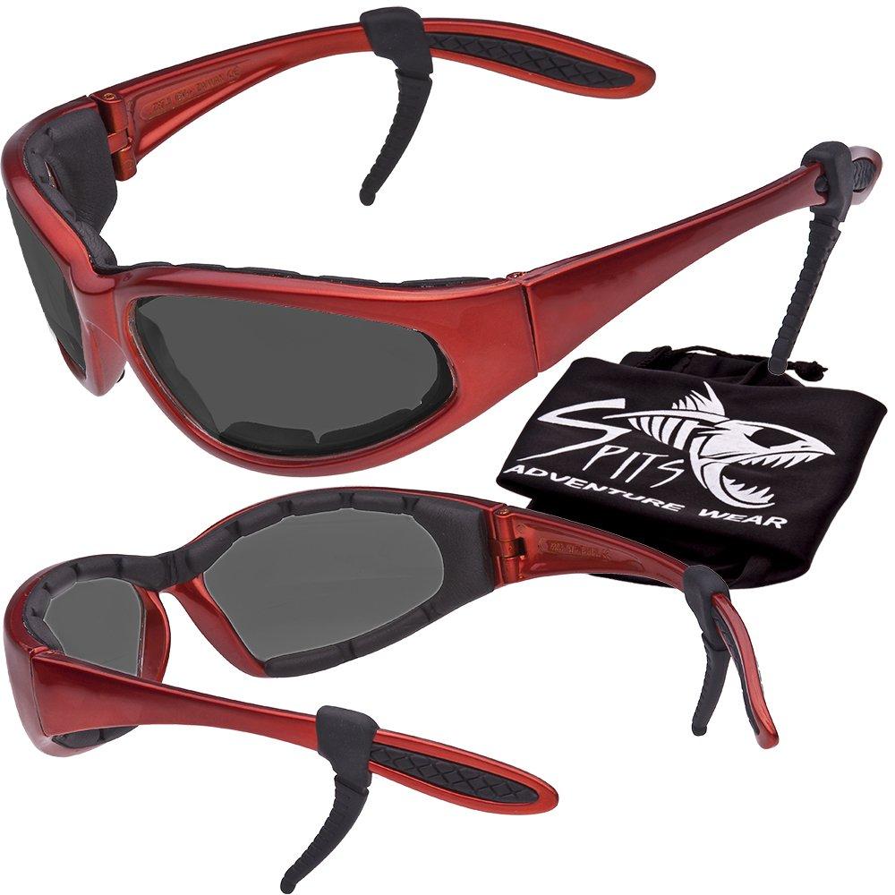 Hercules Safety Glasses ''Plus'' - Foam Padded - Rubber Ear Locks - ORANGE Frame - GREY Lenses