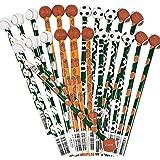 Fun Express Wooden Sports Pencils With Ball Eraser (24 Pack)