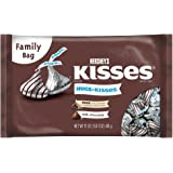 HERSHEY'S HUGS & KISSES Assortment, Solid Milk Chocolate and Milk Chocolate Hugged by White Crème, 17 Ounce Bag (Pack of 3)
