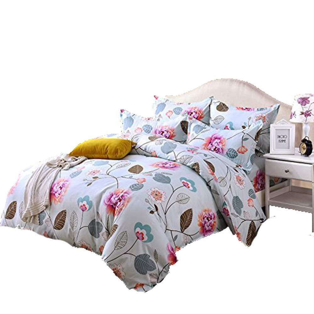 4pcs Princesses Design Hydro-Cotton Bedding Sets Duvet Cover Bed Sheet Pillowcase (Twin, Honey Blue) Nova