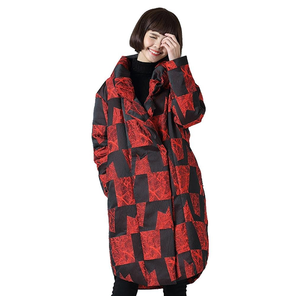 Wgwioo Down jacket Frauen verdickte Daunenjacke hohe Kragen Lange lose mäntel Mode Outwear warme Taste Parkas