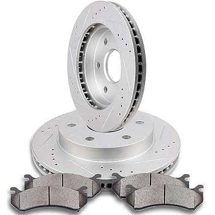 Front Ceramic Brake Pads /& Rotors for Chevrolet GMC Astro Safari RWD