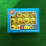 Taihemingna Nice Gift Set - Novelty Emoji Professional Practice Golf Balls 6/12pcs in box,Totally 6 Different Faces of Fun