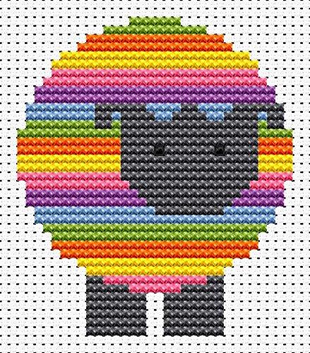 Sew Simple Sheep Cross Stitch Kit by Fat Cat Cross Stitch