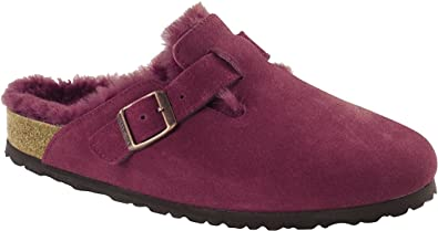 BIRKENSTOCK Damen Boston Clogs, Pink (Bordeaux Bordeaux), 36 EU