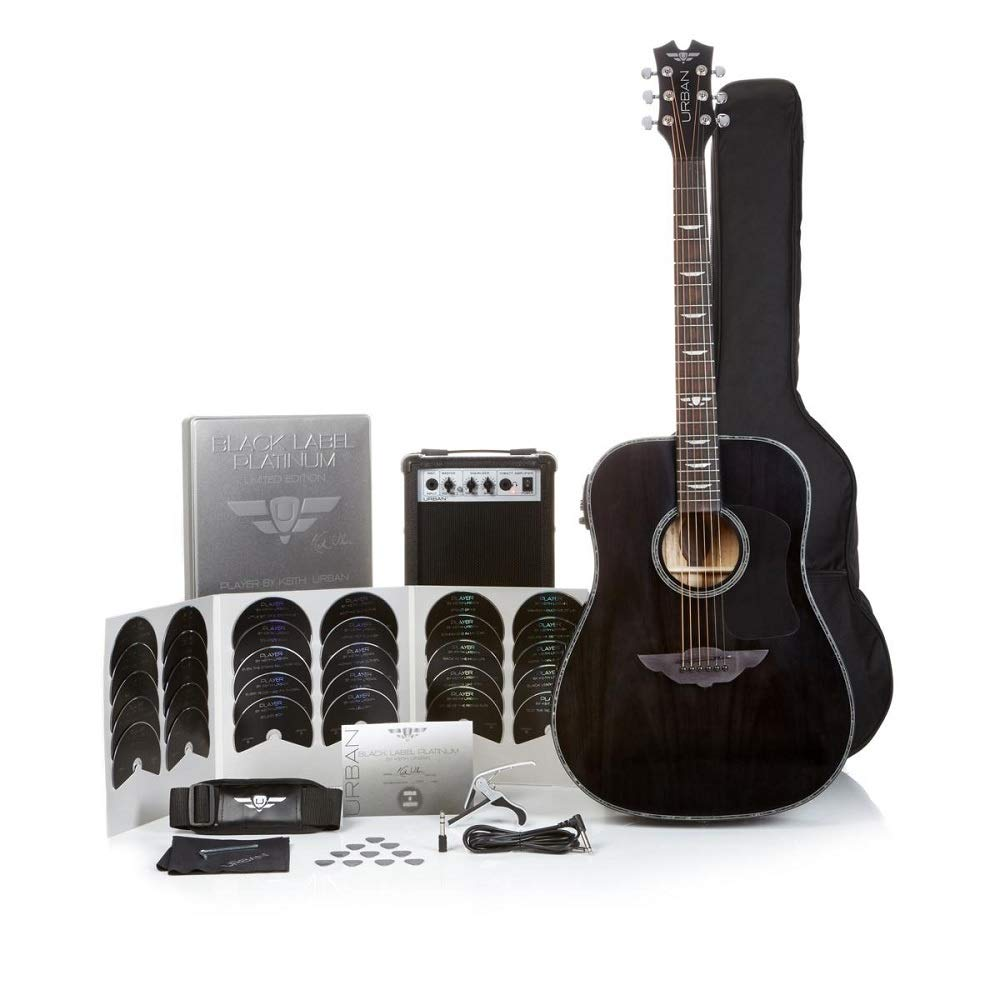 Keith Urban Black Label Platinum Limited Edition 50-PC Guitar Pkg - Acoustic-Electric - Black Onyx Keith Urban Player 548509140441