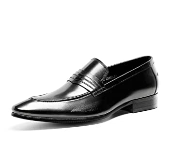 GDXH Mocasines para Hombre Brogues Zapatos clásicos de Estilo Formal Zapatos de Negocios Caballero Traje Zapatos Formales (Color : Negro, tamaño : 38 EU): ...