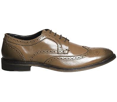 Office Chaussures de Ville à Lacets pour Homme - Ecru - Marron Clair Cuir, 9863edcae0d6