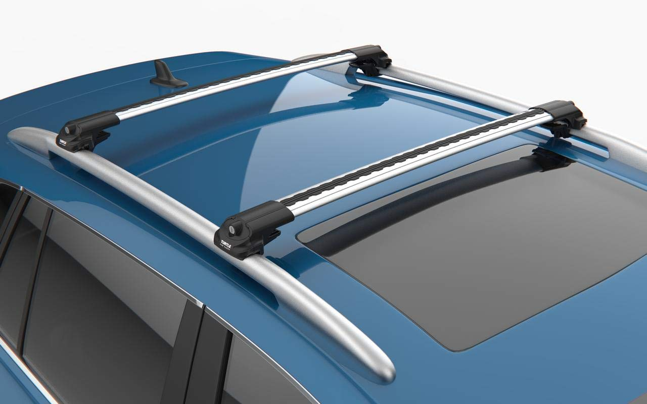 Grey Roof Rack Cross Bars Roof Railing Lockable for Subaru Forester 2008-2013