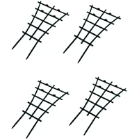 Feitore Mini Plant Trellis Garden Trellis for Climbing Plants Outdoor Plastic Superimposed Potted Plant Support Flower Supports (4 Pcs)