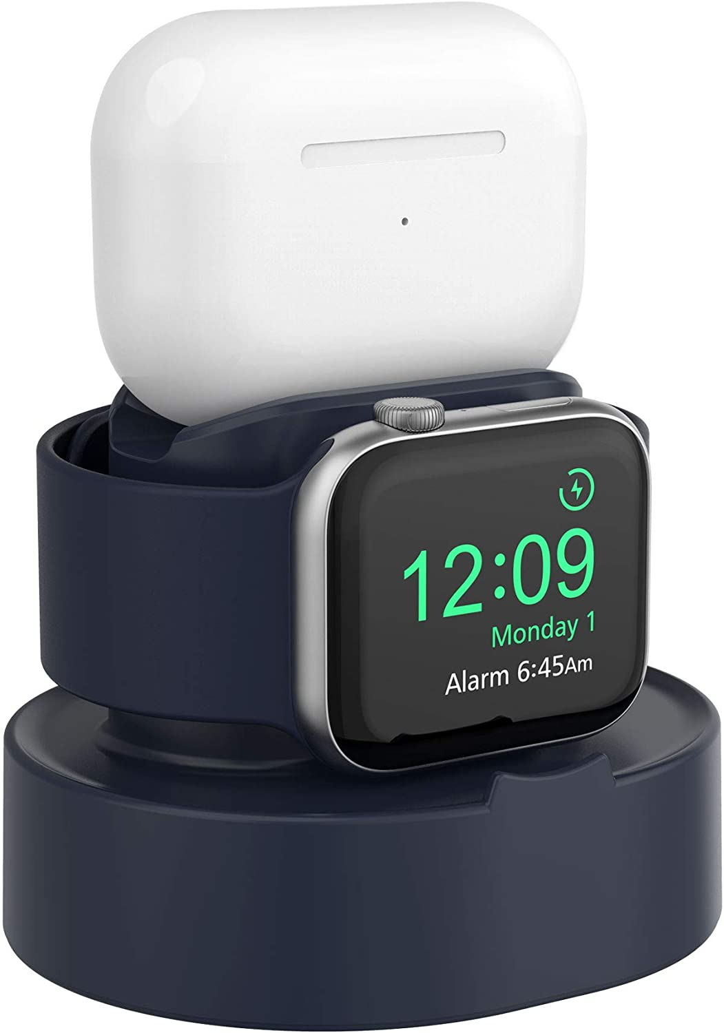 SOKUSIN Charger Stand for Apple Watch 38mm 40mm 42mm 44mm iWatch 1/2 /3/4 /5/6 /SE, Apple Watch Charging Stand Holder and Night Stand Mode, AirPods Pro Charger Dock,Blue【Cables NOT Included】