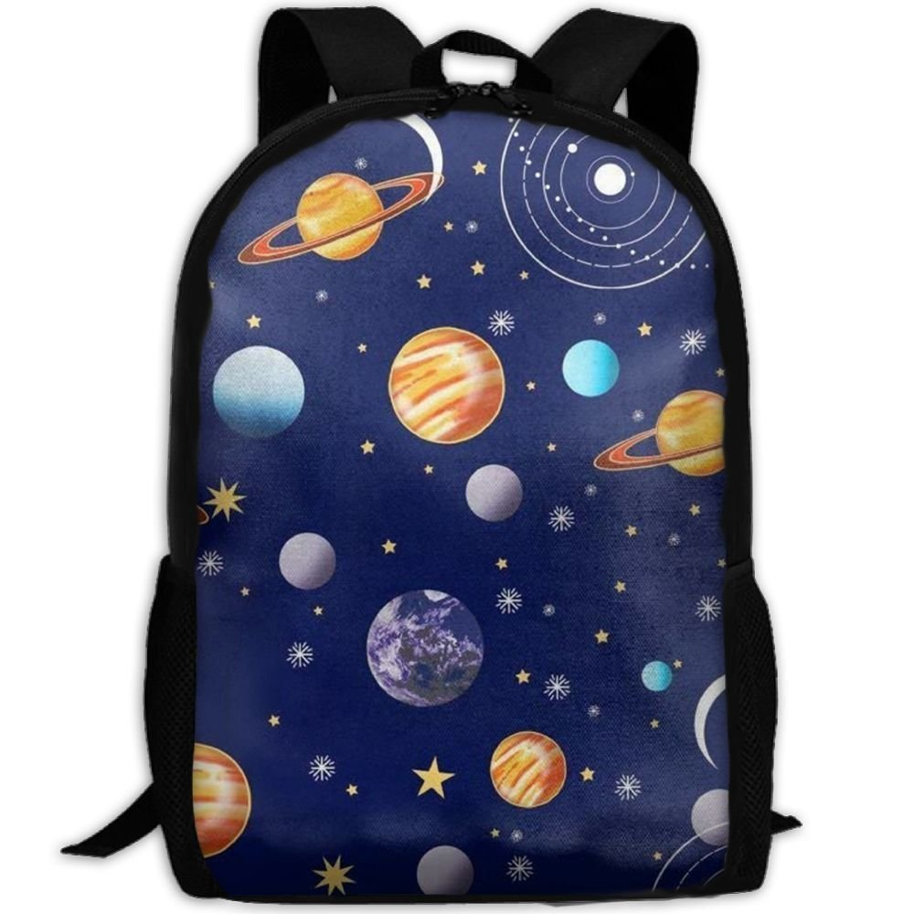 SDEYR79 Navy Planets Solar System School Rucksack College Bookbag Unisex Travel Backpack Laptop Bag