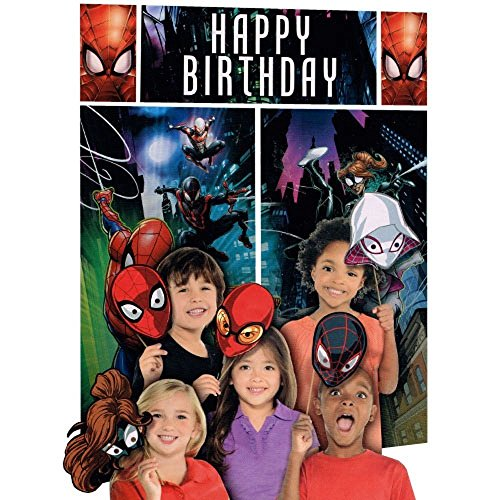 Marvel Ultimate Spiderman Scene Setters Wall Banner Decorating Kit Birthday Party Supplies