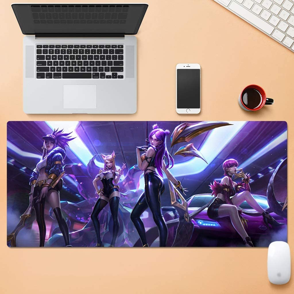 Color : D, Size : 4mm SJJSP Mouse pad Large Video Game Mouse Pad Office Notebook Mouse Pad Waterproof Mouse Pad Rubber
