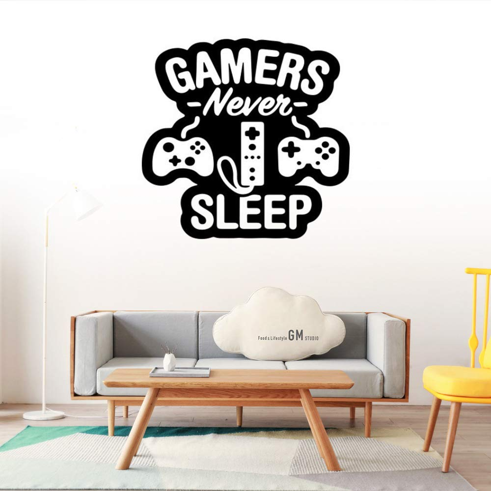 Summerjokes Funny Game Wall Stickers, Video Game Boy Art Design Wall Decals Stickers Decoration, Game Boy Son Friend Rooms Bedroom Decor