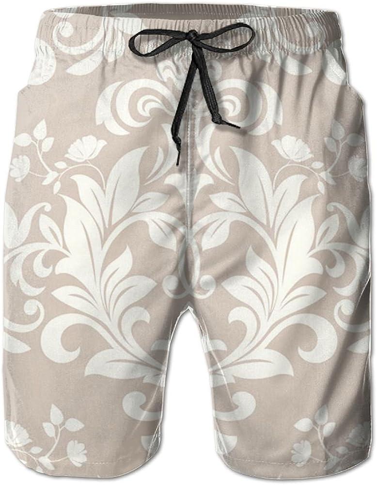 TO-JP Womens 3D Printing Beach Shorts Beautiful Pattern Swim Trunks