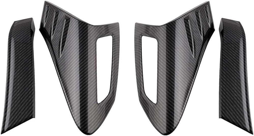 Almencla 4X Couverture Eclairage de Feu Arri/ère Couverture Cadre Protecteur de Voiture Accessoire en ABS pour Toyota CHR